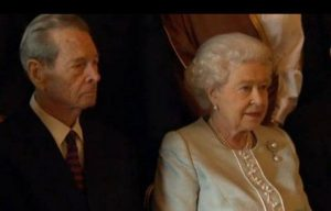 King Michael with his cousin, the Queen Elisabeth II- Humanizator.ro